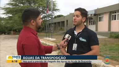 Veja qual é a previsão de chegada das águas da Transposição no Açude de Boqueirão, na PB - Confira os detalhes com o repórter Artur Lira.