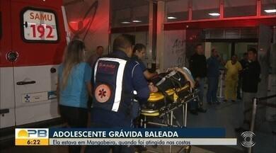Adolescente grávida é baleada, em João Pessoa, após tentativa de assalto - Ela estava no bairro de Mangabeira quando foi atingida nas costas.