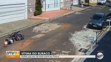 Morre dona de casa que caiu em buraco em rua de Franca, SP - Lucimar Barbosa, de 52 anos, bateu a cabeça no asfalto no final de dezembro.