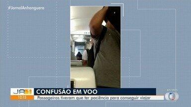 Passageiros enfrentam transtornos após terem voo cancelado no aeroporto de Goiânia - A maioria faria uma viagem internacional e perderam conexão.