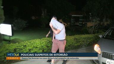 Policial militar é preso suspeito de extorsão - Gaeco fez buscas na casa de outro policial suspeito de extorsão.