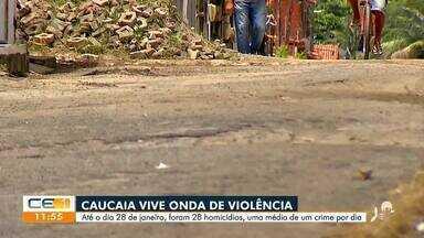 Caucaia vive onda de violência com mais de 28 homicídios este ano - Saiba mais no g1.com.br/ce