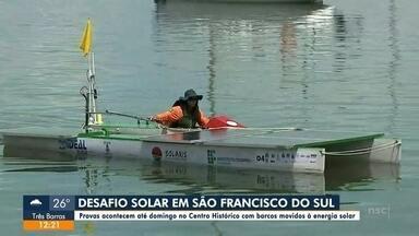 Competição de embarcações movidas a energia solar acontece em São Francisco do Sul - Competição de embarcações movidas a energia solar acontece em São Francisco do Sul