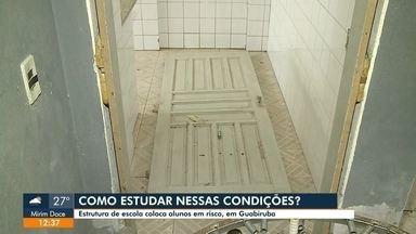 Moradores de Guabiruba reclamam das condições da Escola Estadual João Boss - Moradores de Guabiruba reclamam das condições da Escola Estadual João Boss