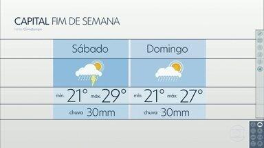 Primeiro fim de semana de fevereiro vai ser chuvoso - Apesar dos dias abafados, a temperatura cai na capital