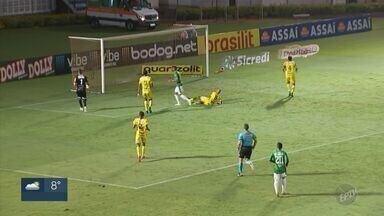 Em jogos fora de casa, Guarani marca ponto e Inter de Limeira perde para o Santos - Santos marcou 2 a 0 contra o Leão da Paulista. Na casa do adversário Mirassol, o Bugre terminou o jogo com o placar de 1 a 1.