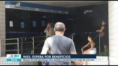 Quase 50 mil processos do INSS estão pendentes no Pará - Os problemas no atendimento deixam paraenses aflitos, sem assistência e ocorre no país inteiro.