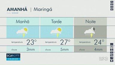 Fim de semana deve ser chuvoso em Maringá - Confira a previsão do tempo para Maringá e região