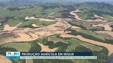 Norte e Noroeste do Rio têm mais de 4 mil km de estradas destruídas após chuvas - A região é uma das maiores produtoras de leite, carne e café do estado.