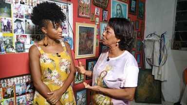 Luana Souza conhece a tradicional romaria de Candeias - Luana Souza conhece a tradicional romaria de Candeias