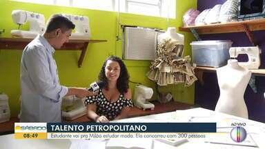 Estudante de Petrópolis vai para Milão estudar moda - A jovem concorreu com 300 pessoas.