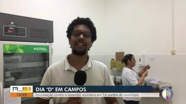 """Imunização contra o sarampo acontece em 16 pontos de Campos dos Goytacazes, no RJ - Hugo Soares acompanhou o Dia """"D"""" em Campos."""