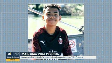Morre o adolescente atingido por bala perdida em Vila Cosmos - João Vitor Moreira dos Santos, de 14 anos, estava internado desde quarta-feira (29). Ele havia sido atingido por uma bala perdida em Vila Cosmos na saída de uma festinha infantil.