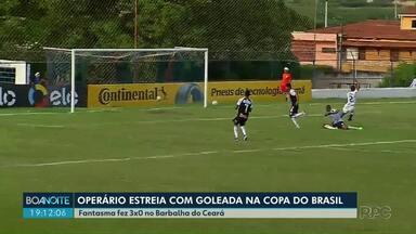 Operário faz três gols e passa de fase na Copa do Brasil - Time de Ponta Grossa enfrentou Barbalha no Ceará nesta quarta-feira (05).