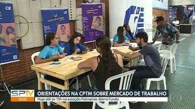 Estações da CPTM têm orientações pra jovens sobre mercado de trabalho - Funcionários do CIEE dão atendimento de graça com testes vocacionais, preparação de currículo e dicas nas estações Barra Funda, São Miguel Paulista, Brás, Santo André e Osasco