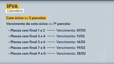 Veja o calendário do IPVA 2020 em Pernambuco - Pagamento poderá ser feito em cota única ou em três parcelas.