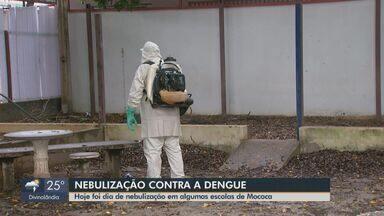 Escolas e prédios públicos de Mococa são nebulizados contra a dengue - Número de confirmações da doença passou de 339 para 549.