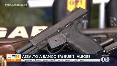 Polícia prede suspeitos de tentar assaltar banco em Buriti Alegre - Teve troca de tiros durante abordagem.