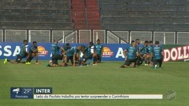 Inter de Limeira se prepara para tentar surpreender o Corinthians - Partida será neste domingo, na capital paulista.