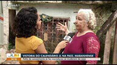 Calendário JL visita a passagem Maranhense, no bairro do Mangueirão - Calendário JL visita a passagem Maranhense, no bairro do Mangueirão