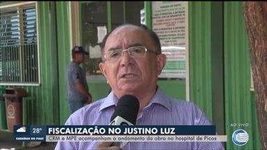 CRM e MPE acompanham andamento das obras do Hospital Justino Luz - CRM e MPE acompanham andamento das obras do Hospital Justino Luz