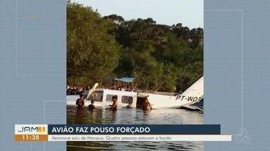 Avião faz pouso forçado em Santarém, no Pará - Aeronave saiu de Manaus.