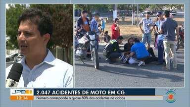 Oitenta por cento dos acidentes de trânsito de Campina Grande envolvem motos - Os dados são da STTP.