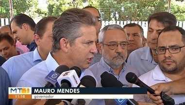 Governador promete concluir parte da ponte na W-11 - Em Rondonópolis governador promete concluir parte estadual da construção da ponte na W-11