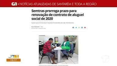 Prorrogação para renovação de contrato do aluguel social é destaque no G1 - Confira a informação acessando o maior portal de notícias da região.