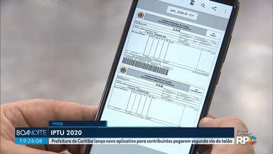 Novidades do IPTU 2020 - Prefeitura de Curitiba lança novo aplicativo para contribuintes pegarem segunda via do talão