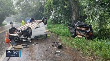 Homem morre e três ficam feridos após acidente na BR-354, em Pouso Alto (MG) - Homem morre e três ficam feridos após acidente na BR-354, em Pouso Alto (MG)