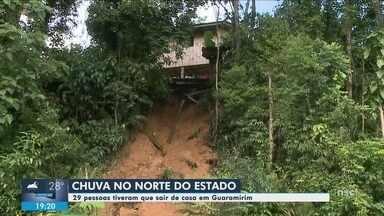 Chuva forte causa estragos em SC - Houve danos em Guaramirim e no Litoral Norte