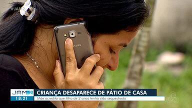 Criança de dois anos desaparece enquanto brincava no pátio de casa, em Manaus - Criança de dois anos desaparece enquanto brincava no pátio de casa, em Manaus
