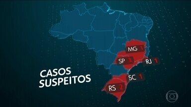 Brasil não tem caso confirmado do novo coronavírus - Oito pessoas estão sendo monitoradas. Laboratório de Goiás está sendo preparado para fazer os exames que detectam o coronavírus.
