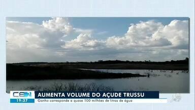 Chuva aumenta volume do Trussu, açude que abastece cidades do Centro-Sul - Confira mais notícias em g1.globo.com/ce