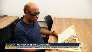 Equipamento permite que deficientes visuais tenham acesso a qualquer livro - Quatro dispositivos estarão disponíveis na Biblioteca Pública do Paraná.