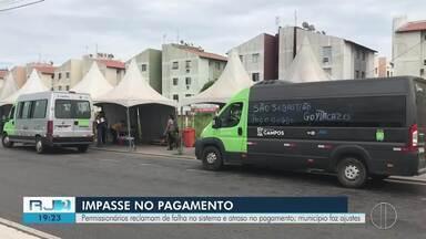 Novo sistema de transporte implantado em Campos traz problemas no repasse aos licenciados - Permissionários reclamam de falha no sistema e atraso no pagamento, e município faz ajustes.