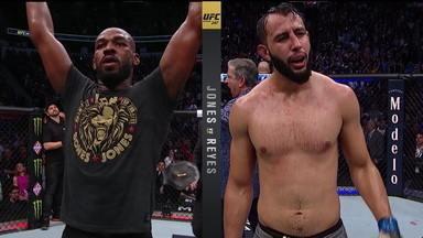 Em uma luta difícil Jon Jones vence Dominick Reyes e mantem o cinturão - Em uma luta difícil Jon Jones vence Dominick Reyes e mantem o cinturão
