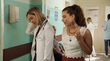 Rita afirma que prefere Nina com Lígia que com Rui - Lígia aceita conversar com Rita sobre a guarda compartilhada de Nina e se surpreende