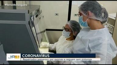 Repatriados passam por exames e resultados devem sair na quarta-feira em Anápolis - Rotina é tranquila.