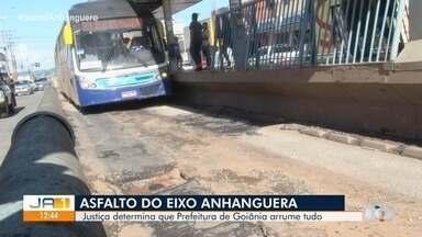 Justiça determina que prefeitura reforme asfalto do Eixo Anhanguera, em Goiânia - Município disse que não foi notificado.