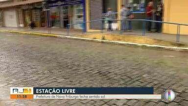 Prefeitura fecha sentido sul da Estação Livre, em Nova Friburgo, no RJ - Situação muda rotina de quem pega ônibus no município.