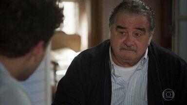 Ignácio cobra mais atenção de Alan com os filhos - Ele aconselha o neto a fazer as pazes com Tarantino