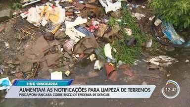 Aumentam notificações para limpeza de terrenos em Pinda - Cidade corre risco de epidemia de dengue.