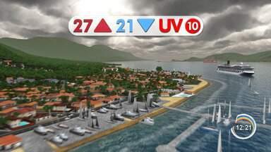 Confira previsão do tempo para esta quinta-feira - Chuva dá trégua na região