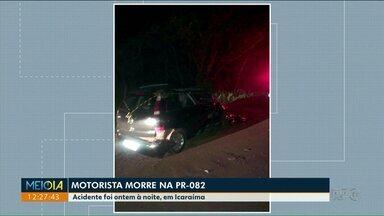 Duas pessoas morrem em dois acidentes em rodovias do norte e noroeste do Paraná - Um dos acidentes envolveu uma carreta e dois carros; uma idosa ficou gravemente ferida.