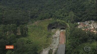 Obras no trecho norte do Rodoanel estão paradas em SP - O trecho deveria estar concluído desde 2016, mas os contratos com as empreiteiras foram cancelados.