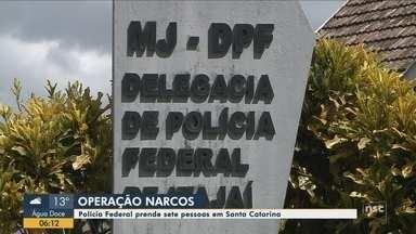 PF de SC deflagra operação contra grupo suspeito de tráfico internacional - PF de SC deflagra operação contra grupo suspeito de tráfico internacional