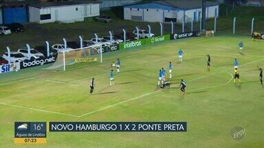 Ponte passa sufoco, mas vence o Novo Hamburgo e avança à 2ª fase da Copa do Brasil - Novo Hamburgo desperdiçou pênalti quando placar estava um a um; veja os lances do jogo.