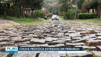 Chuva atinge zona rural de Nova Friburgo e dá prejuízo a produtores - Plantações praticamente inteiras ficaram embaixo d'água.